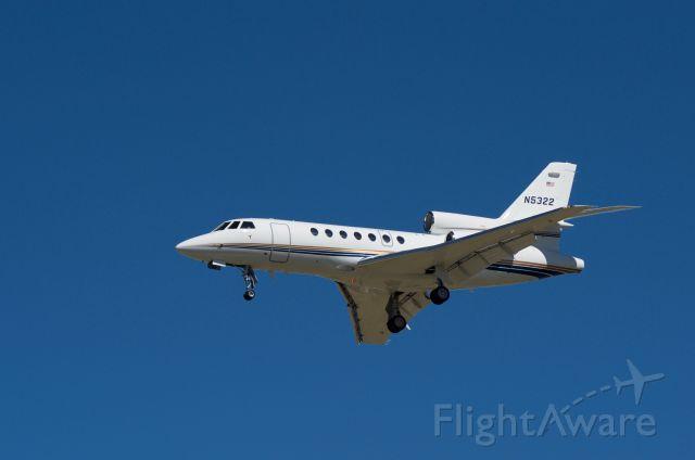 Dassault Falcon 50 (N5322) - Landing KHOU 30L