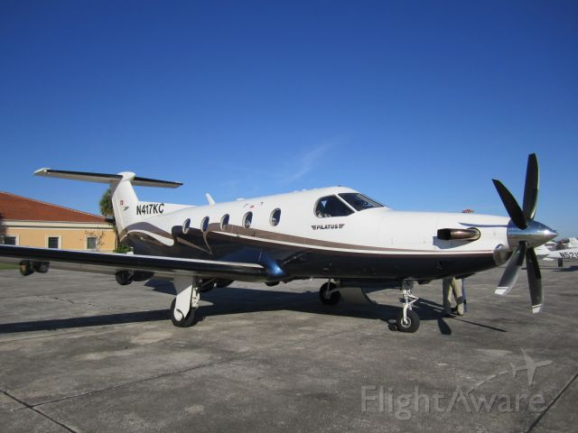 Pilatus PC-12 (N417KC) - After a quick flight, I figured to take a photo. What an awesome plane!