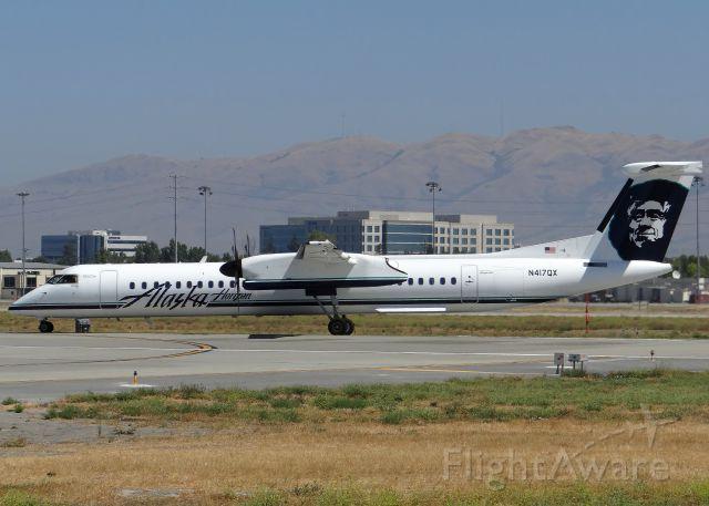 de Havilland Dash 8-400 (N417QX) - Taking off Runway 30L