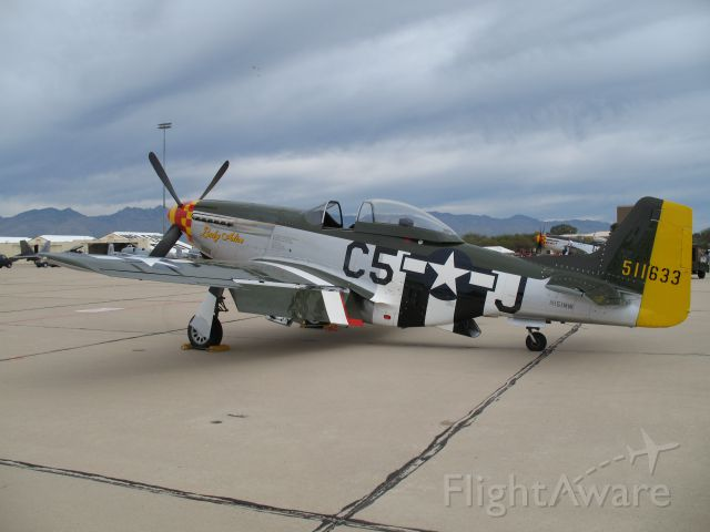 North American P-51 Mustang (N151MW) - P-51D Lady Alice at Heritage Flight, Davis Monthan AFB 2008