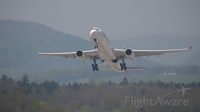 Airbus A330-300 (HB-JHH) - Departing as SWR #64 to Miami Intl.