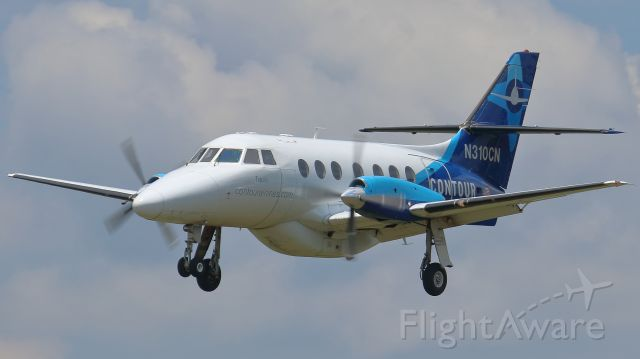 British Aerospace Jetstream 31 (N310CN) - Volunteer 310 on approach to runway 19, making a pit stop at M54.