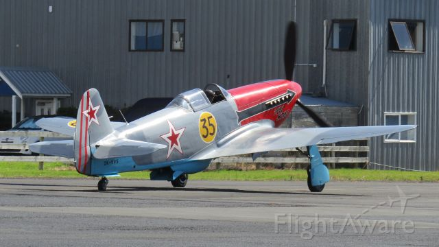 YAKOVLEV Yak-3 (ZK-VVS) - Full Noise's VVS taxiing out for the airshow finale.