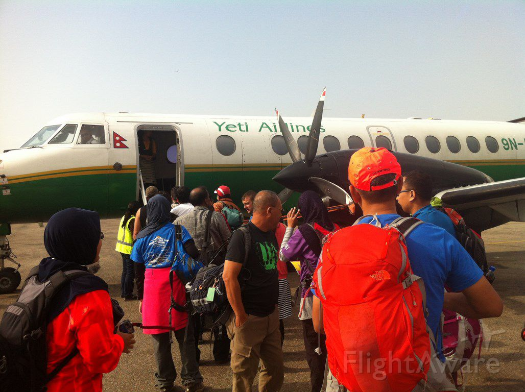 — — - Picture taken on 02 May 2015 at Kathmandu Airport (Domestic). On our way to Pokhara for Annapurna Base Camp trekking expedition.