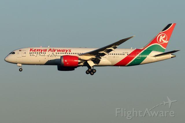 Boeing 787-8 (5Y-KZE) - 'Kenya 2' arriving from Nairobi Jomo Kenyatta International Airport in the early Sunday morning light