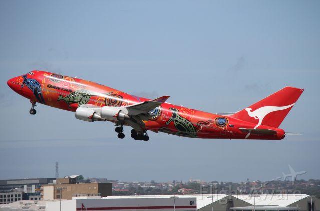 "Boeing 747-400 (VH-OEJ) - ""Wunala Dreaming"" bound for San Francisco."