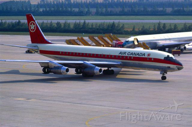 McDonnell Douglas Jet Trader (C-FTJH) - DC-8-42 CF-TJH in August 1969 at Vienna (LOWW)