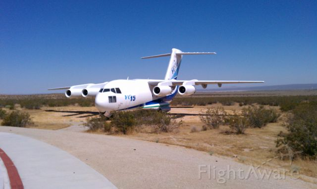 — — - Test aircraft used to developed the C17, on display outside the west gate at Edwards AFB.. 2012
