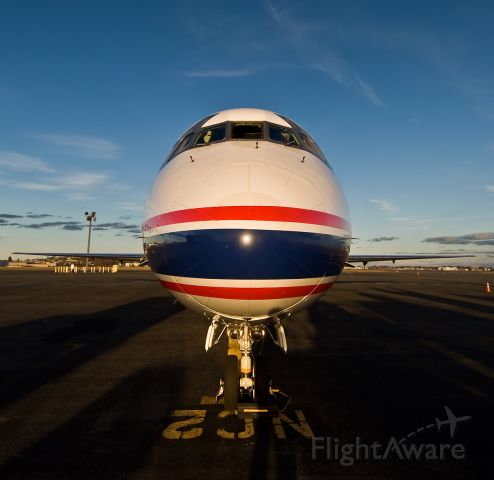McDonnell Douglas MD-81 (N682RW) - Nose shot of a classic bird