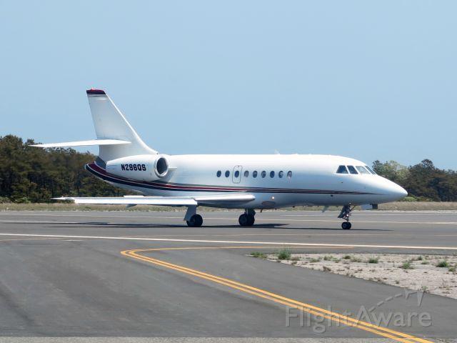 Dassault Falcon 2000 (N296QS) - Roll out after landing runway 24.