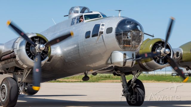 """Boeing B-17 Flying Fortress (N5017N) - EAA's """"Aluminum Overcast"""" prepares to take to the skies at Appleton Int'l Airport. I was fortunate enough to fly on this bird later that afternoon."""