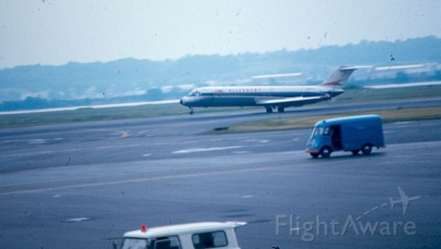 Douglas DC-9-10 — - Allegheny DC-9 on runway 01 at KDCA