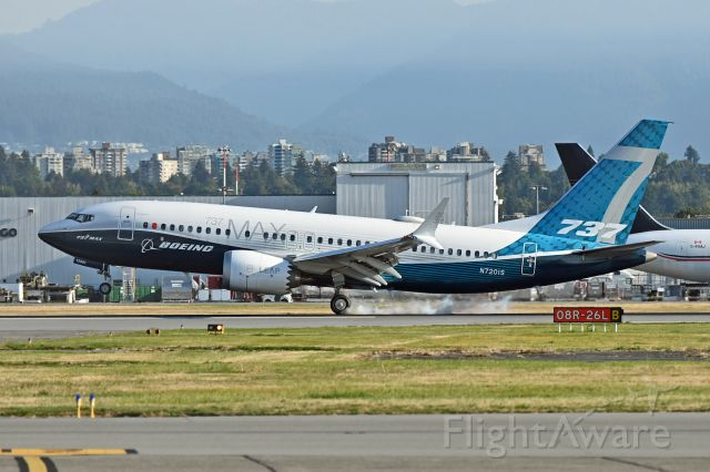 Boeing 737 MAX 7 (N7201S) - Boeing sent this plane to pick up European Union Aviation Safety Agency official for MAX flight testing
