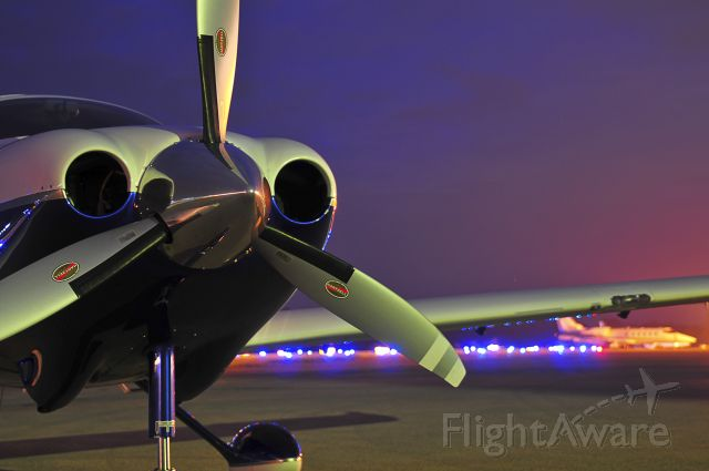 Cessna 400 (N400KM) - Night picture taken at home base of CRW.