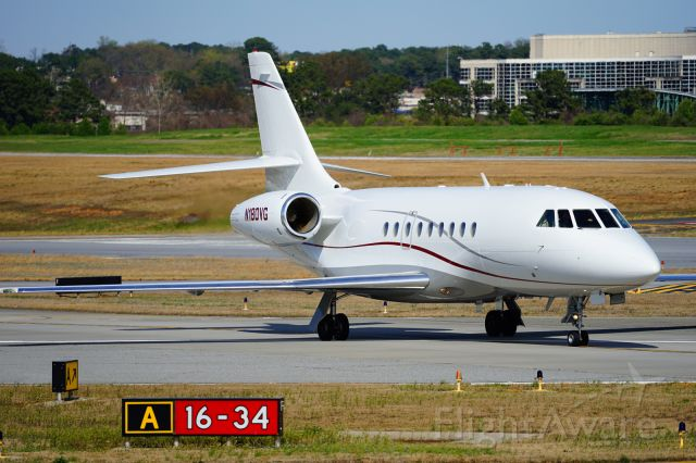 Dassault Falcon 2000 (N180VG) - Falcon fever!  This plane had just arrived on the runway behind the CDC building.