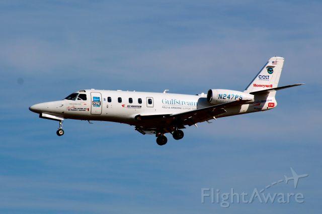 IAI Gulfstream G150 (N247PS) - Landing at BWI on January 31, 2012.