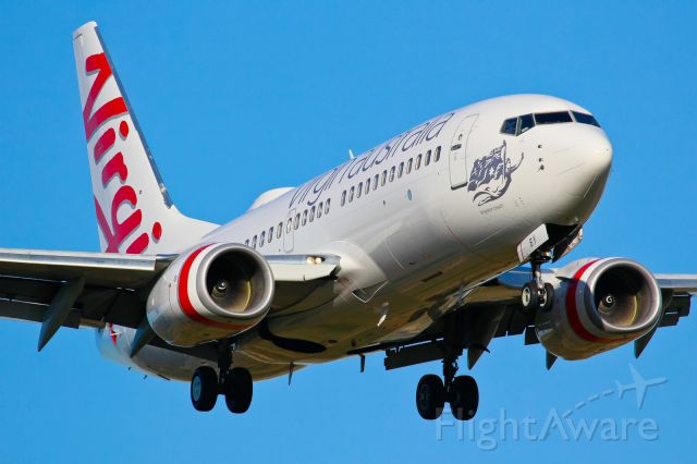 Boeing 737-700 (VH-VBY) - Seen here on short finals.