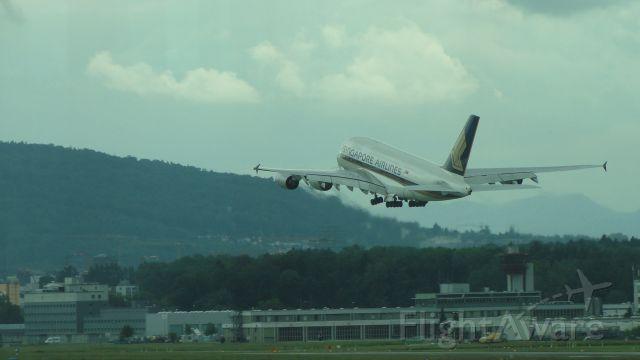 Airbus A380-800 — - Taken at Zurich Airport