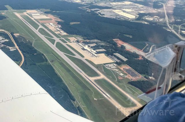 Piper PA-20 Pacer (N5197F) - Beautiful shot flying over GSP.  8/31/20.