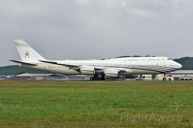 BOEING 747-8 (V8-BKH) - Government of Brunei V8-BKH B748 BBJ at SZB
