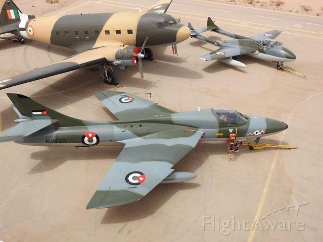 — — - collection of flyable royal jordanian air force aircraft ain Aqaba, Jordan