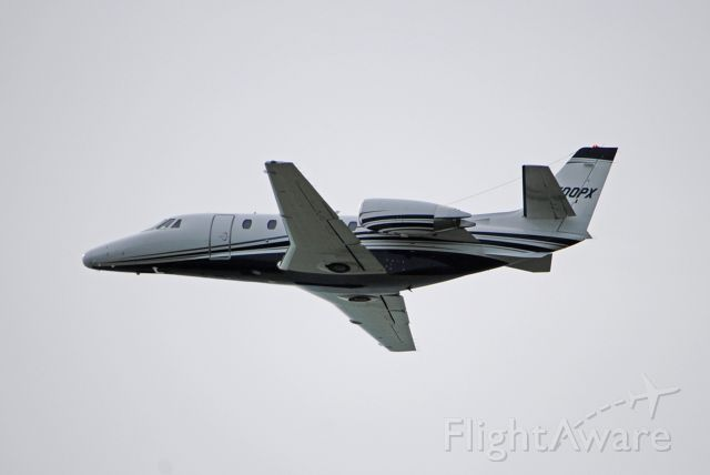 Cessna Citation Excel/XLS (N500PX) - Departing runway 9.<br /><br />March 8, 2020