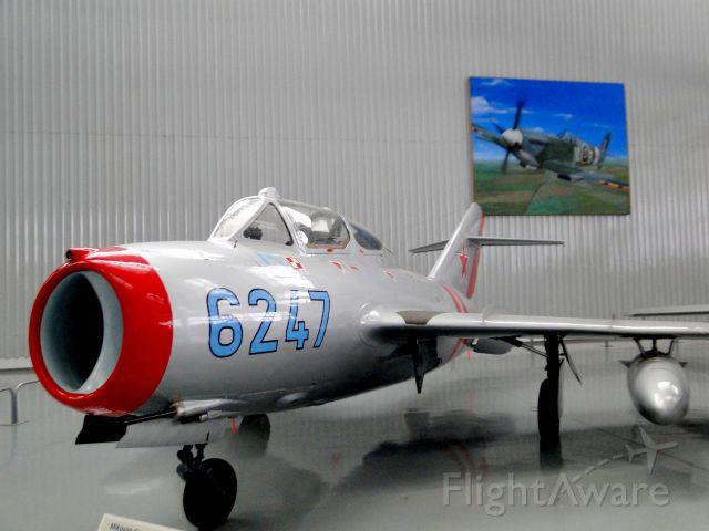 PZL-MIELEC SBLiM-2 (N6247) - MIKOYAN-GUREVICH MIG-15 UTI manufactured in URSS in 1956. Maximum speed: 1042 km/h.