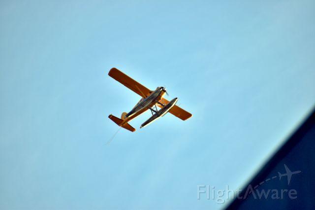 De Havilland Canada DHC-2 Mk1 Beaver (N123JL) - N123JL flies high above San Francisco during golden hour on Wednesday, 19 February, 2020
