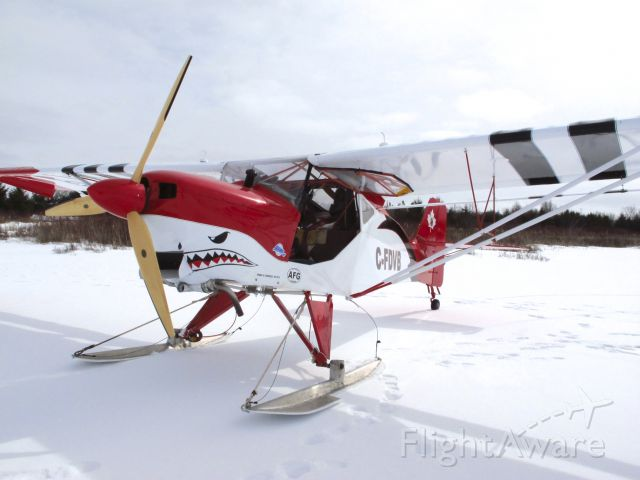 SKYFOX Impala (C-FDVB) - Nicely finished Kitfox running on skis for a fly-in event at a frozen Camden Lake, near Yarker, Ontario, Canada on March 3rd, 2013