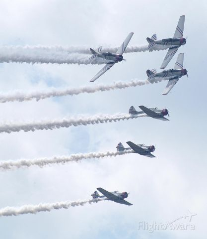 — — - Geico Sky Tyler's T-6's at the Rochester,NY Airshow