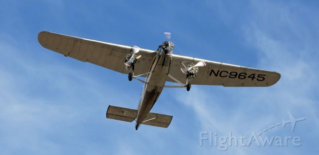 Ford Tri-Motor (N9645) - The Liberty Aviation Museum's 1928 Ford Trimotor 5-AT-B (N9645).