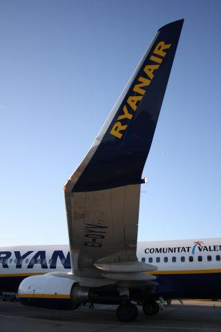 Boeing 737-700 — - De-boarding at Gerona Costa Brava Airport
