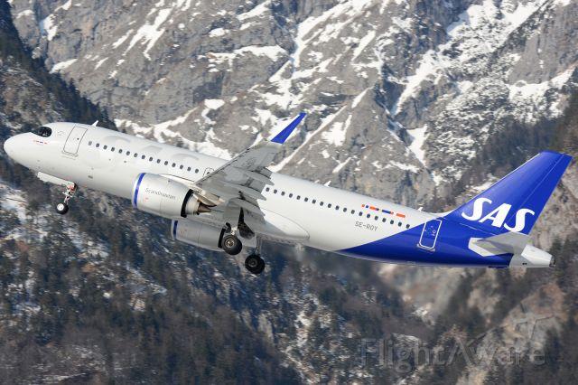 Airbus A320neo (SE-ROY) - 'Yrsa Viking' climbing out of rwy26