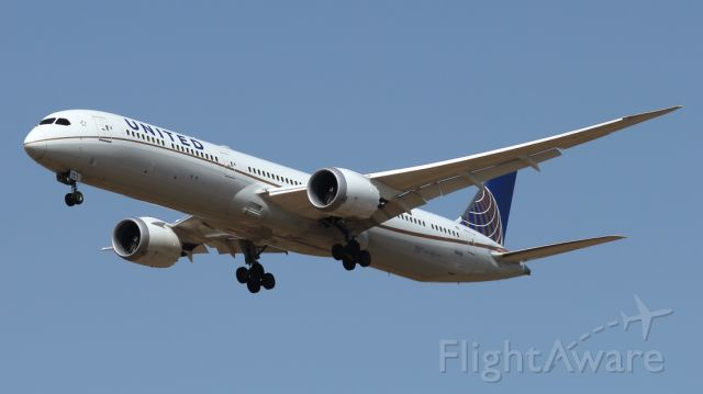 BOEING 787-10 Dreamliner (N16008) - 10/06/2021:   The daily flight from Newark (EWR) on landing path to runway 12.