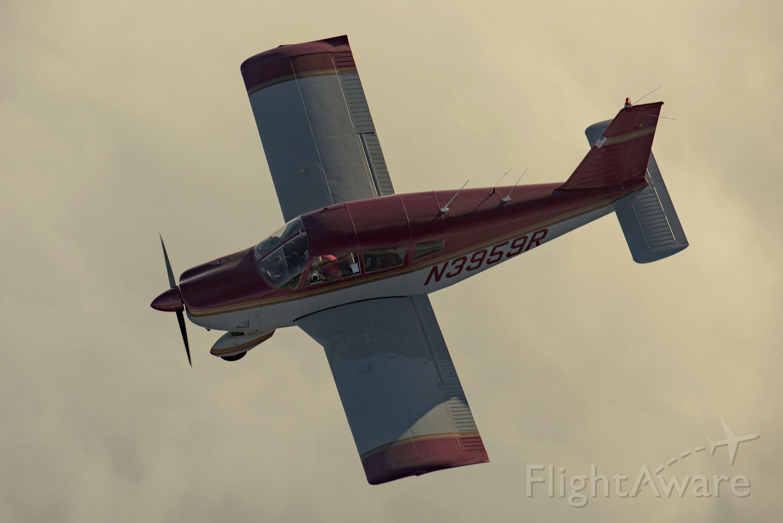 Piper Cherokee (N3959R) - N3959R over cloud layer near Half Moon Bay