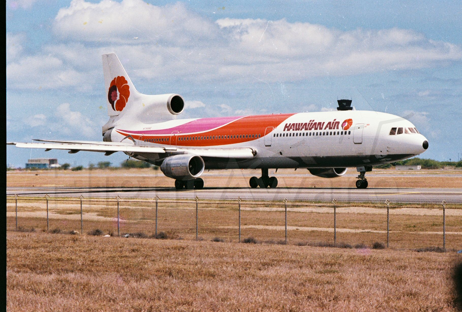 Lockheed L-1011 TriStar — - A blast from the past! A Hawaiian Air Tristar taxiing at PHNL. Picture taken at Hickam AFB in 1987.