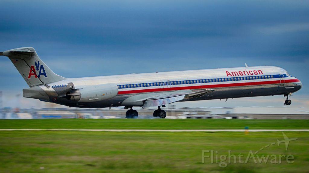 McDonnell Douglas MD-83 (N494AA) - Mar. 2017 22 arrival.