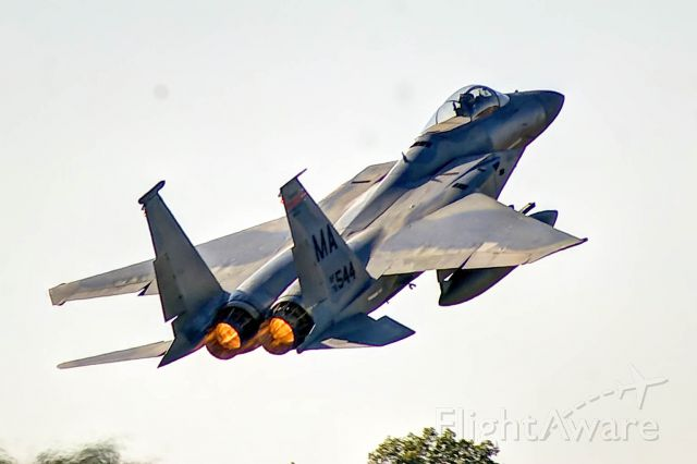McDonnell Douglas F-15 Eagle — - An F-15C takes off on runway 36 at the 2010 Great Georgia Airshow in Peachtree City, Georgia.