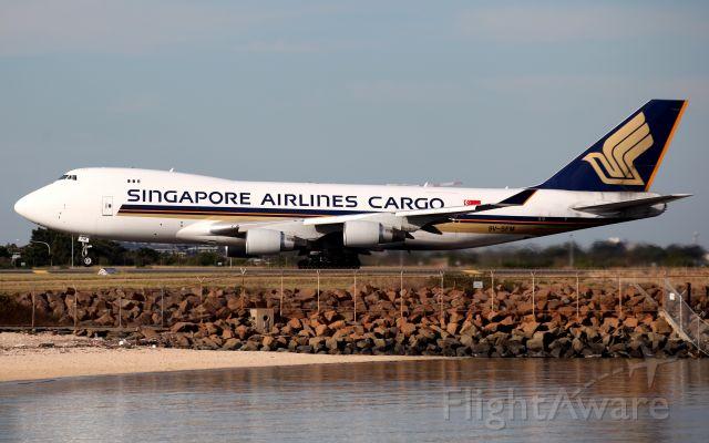 Boeing 747-400 (9V-SFM) - Lifting Off from Rwy 34L