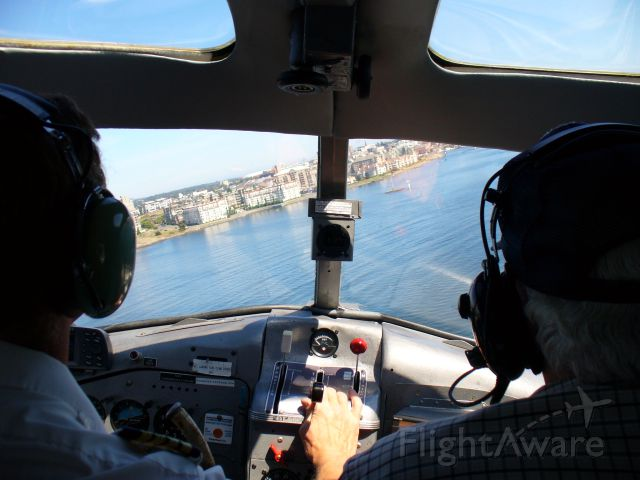 De Havilland Canada DHC-2 Mk1 Beaver (C-FOCY) - Approach to land at the busy Victoria BC Inner Harbor.
