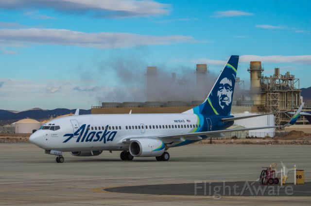 Boeing 737-700 (N618AS) - This Alaska Airlines 737 prepares to depart SCLA for SeaTac Washington sporting its new paint scheme.