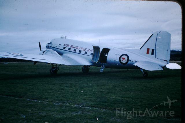 Douglas DC-3 (A65917) - RAAF dakota at Flinders Island on training sortee, circa 1957
