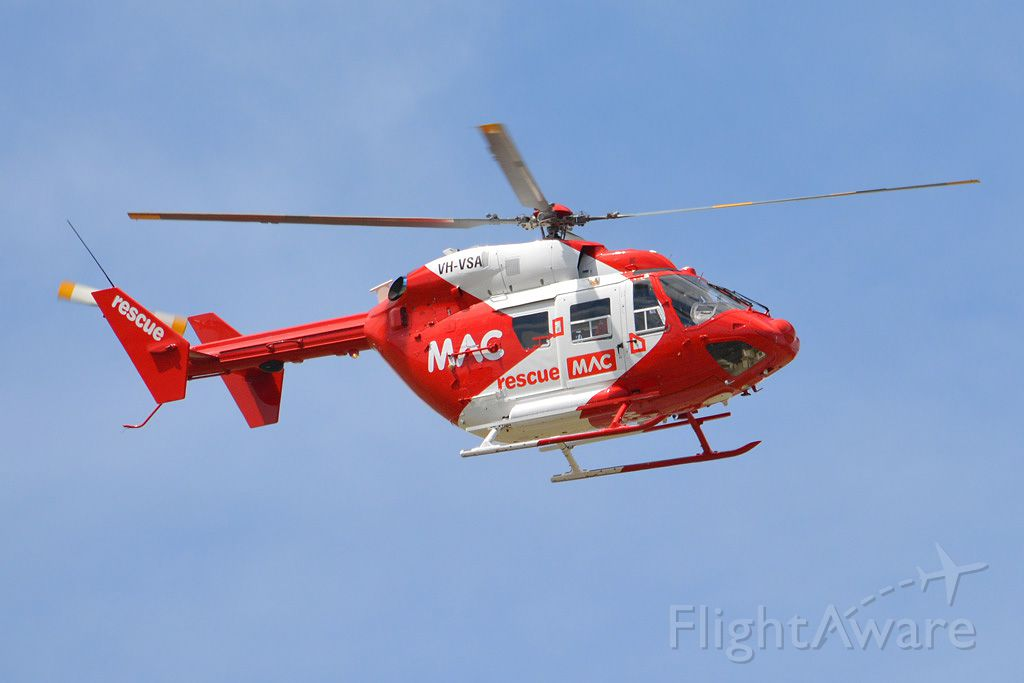 VH-VSA — - MAC emergency chopper setting off on yet another mercy flight. Thursday 13th March 2014.