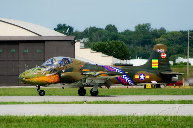 "— — - BAC 167 Strikemaster Mk 84 (""The Dragon"") performs at the Kansas City Air Show @ Wheeler Downtown Airport, Kansas City, Missouri"