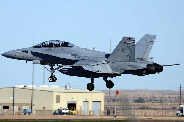 McDonnell Douglas FA-18 Hornet (16-4058) - McDonnell Douglas F/A-18D Hornet BuNo 164058 #446 of VFA-122 Flying Eagles at NAF el Centro on February 17, 2012.