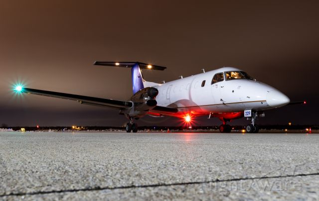 Embraer EMB-120 Brasilia (N229SW) - N229SW starting up for a night flight back to Texas.