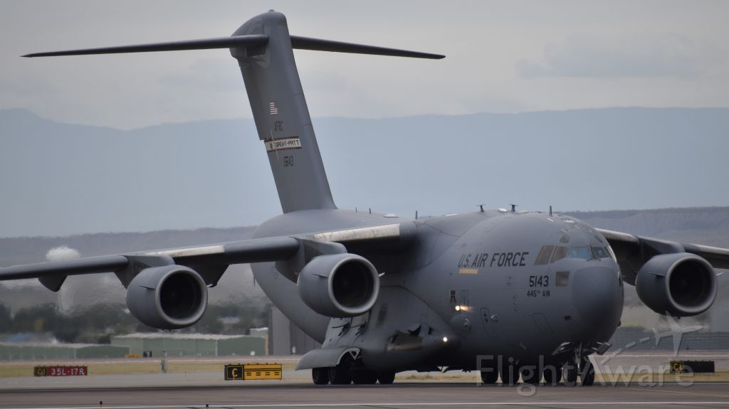 """Boeing Globemaster III (05-5143) - Boeing C-17A """"Globemaster III"""" from the 445th Airlift Wing"""