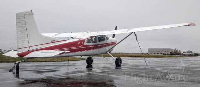 Cessna Skylane (N1770R) - Flightline tie-down, Merrill Field, Anchorage, AK