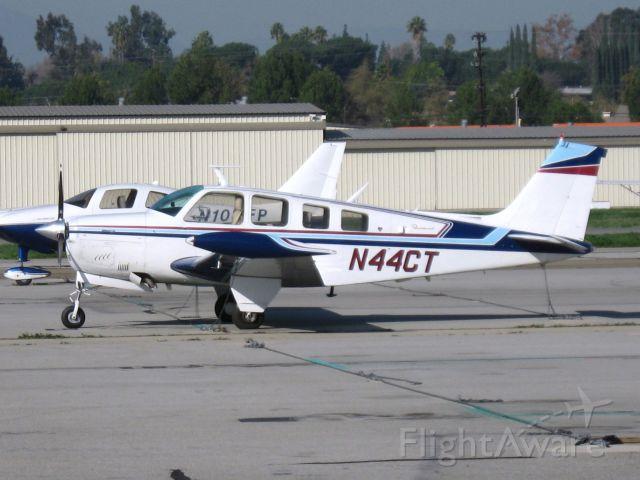 Beechcraft Bonanza (36) (N44CT) - Parked at Fullerton