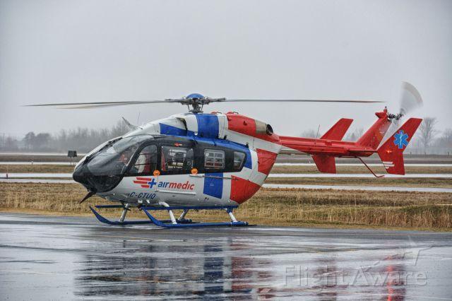 KAWASAKI EC-145 (C-GTUQ) - Training flight on a rainy sunday.